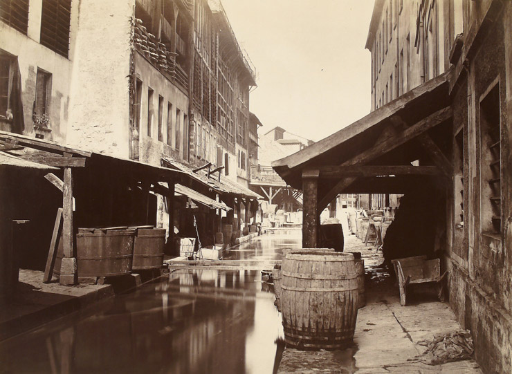 Bieve River before renovation, by Charles Marville  via