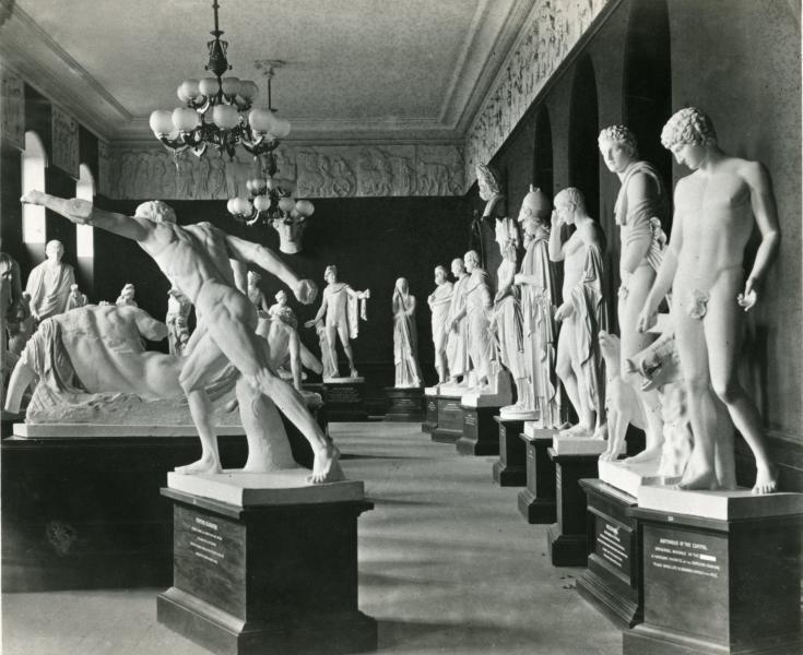 Hall of Sculpture, 1882   via