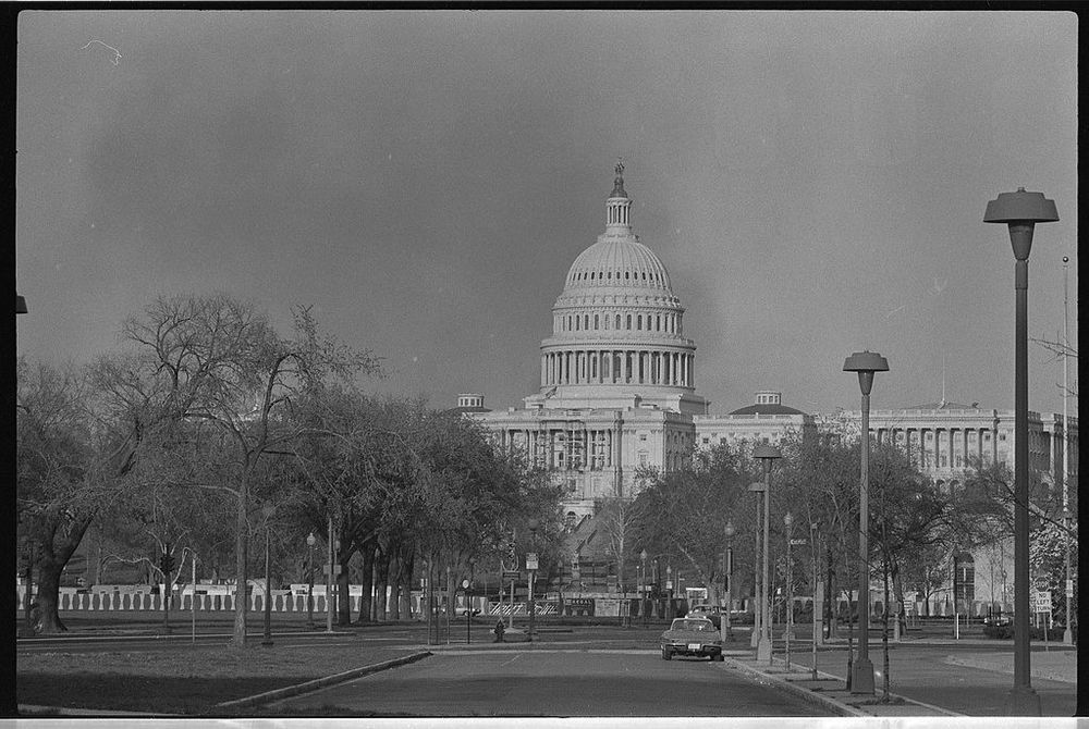 Smoke over the Capitol during the DC Riots,   via
