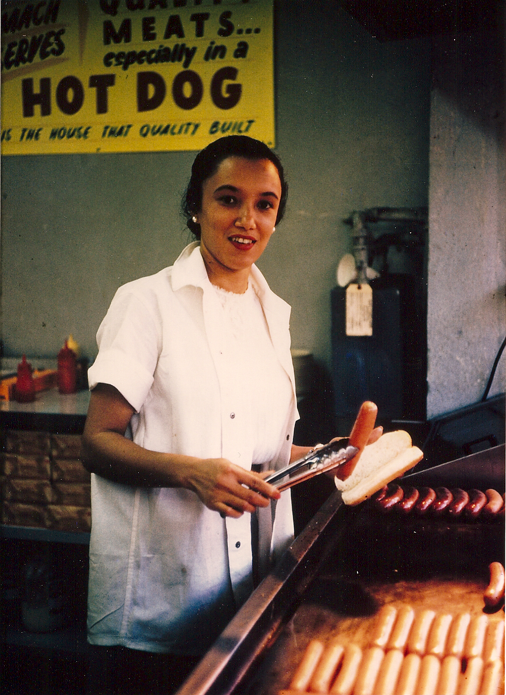 Virginia Ali at the grill in the early days of the restaurant,   via
