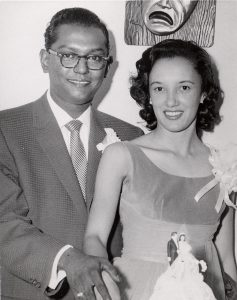 Ben and Virginia Ali at their wedding in 1958,   via