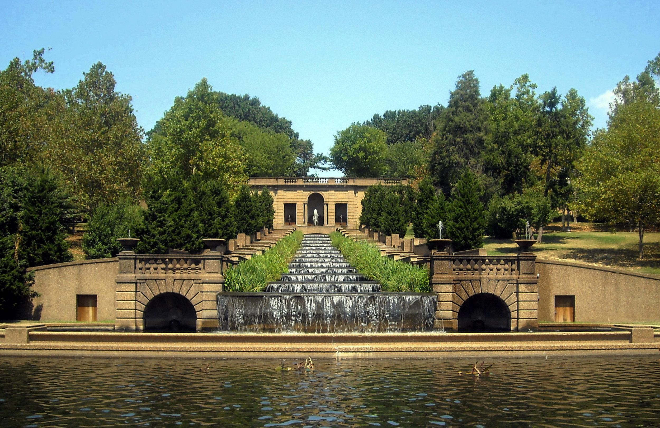 The fountain at Meridian Hill Park   via