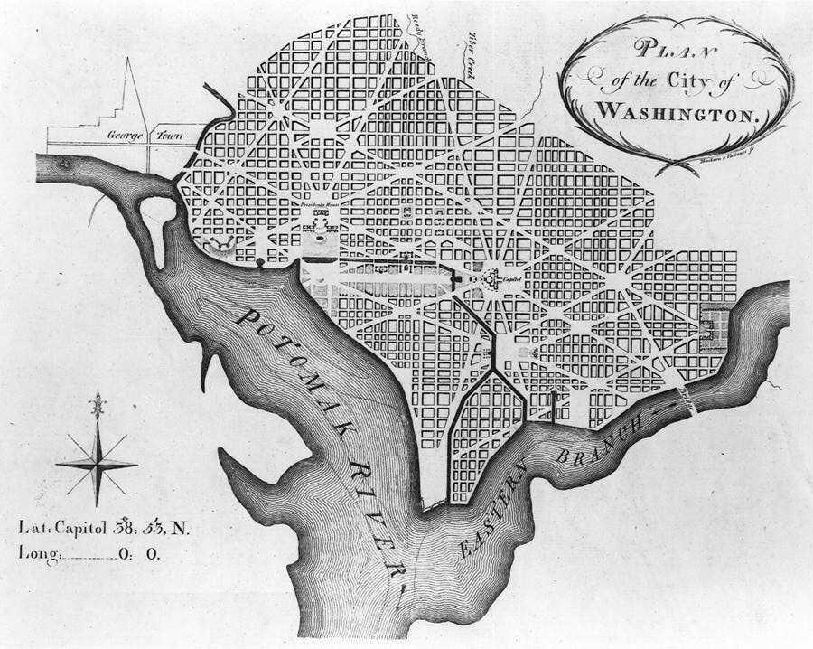 L'Enfant's plan for DC, 1791   via