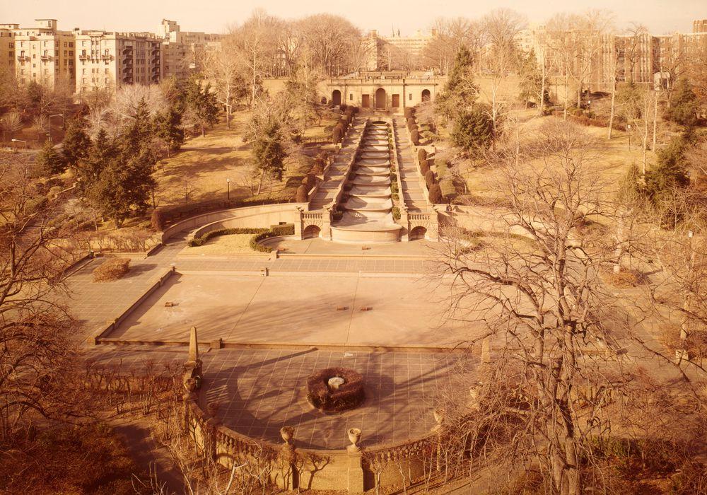 Meridian Hill Park in 1976,   via
