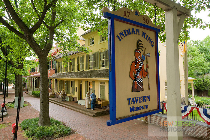 The Indian King Tavern Museum in Haddonfield, New Jersey,   via