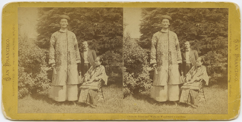 """""""Chinese Giant and wife"""" by Muybridge, c. 1869  via"""
