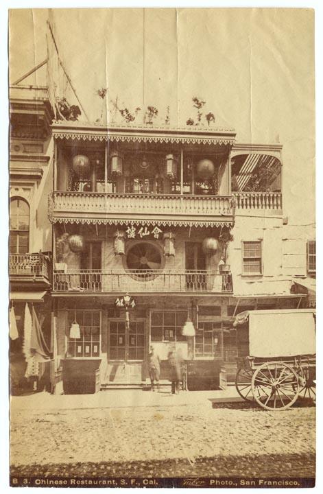 Chinese restaurant in San Francisco, c. 1875  via
