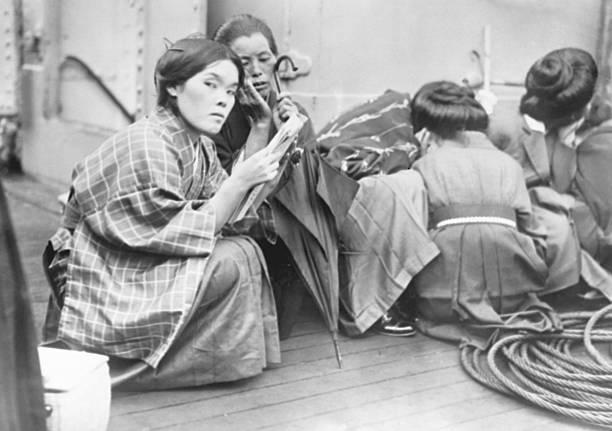 Japanese immigrants arrive in California, c. 1920  via