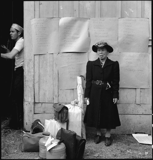 A woman during the forced removal  via