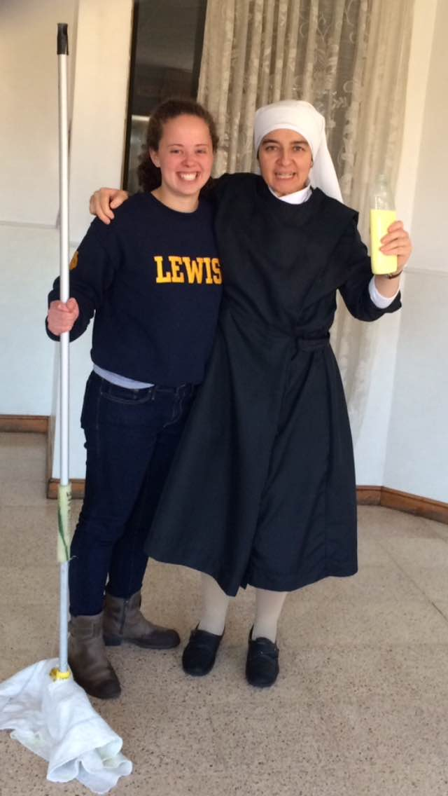 Sr. Liz (right) and me.