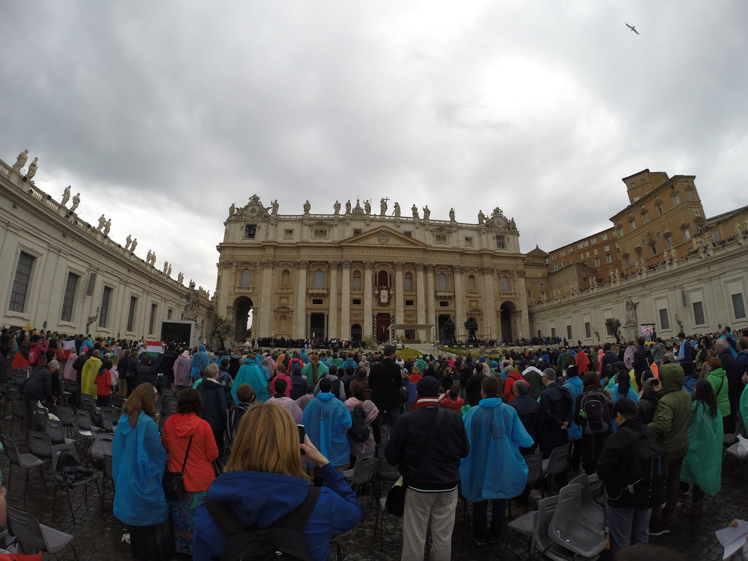 After the mass, the rain, and the cleansing had concluded.
