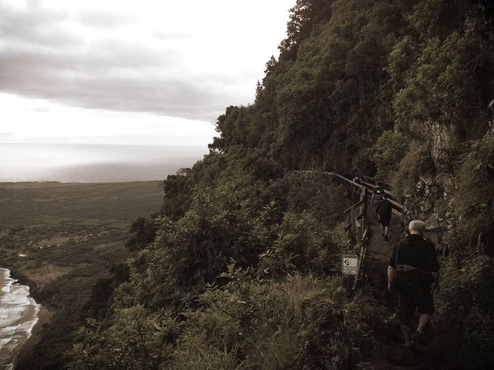The cliff above Kalaupapa. Once lepers were deposited below it, they could never leave.