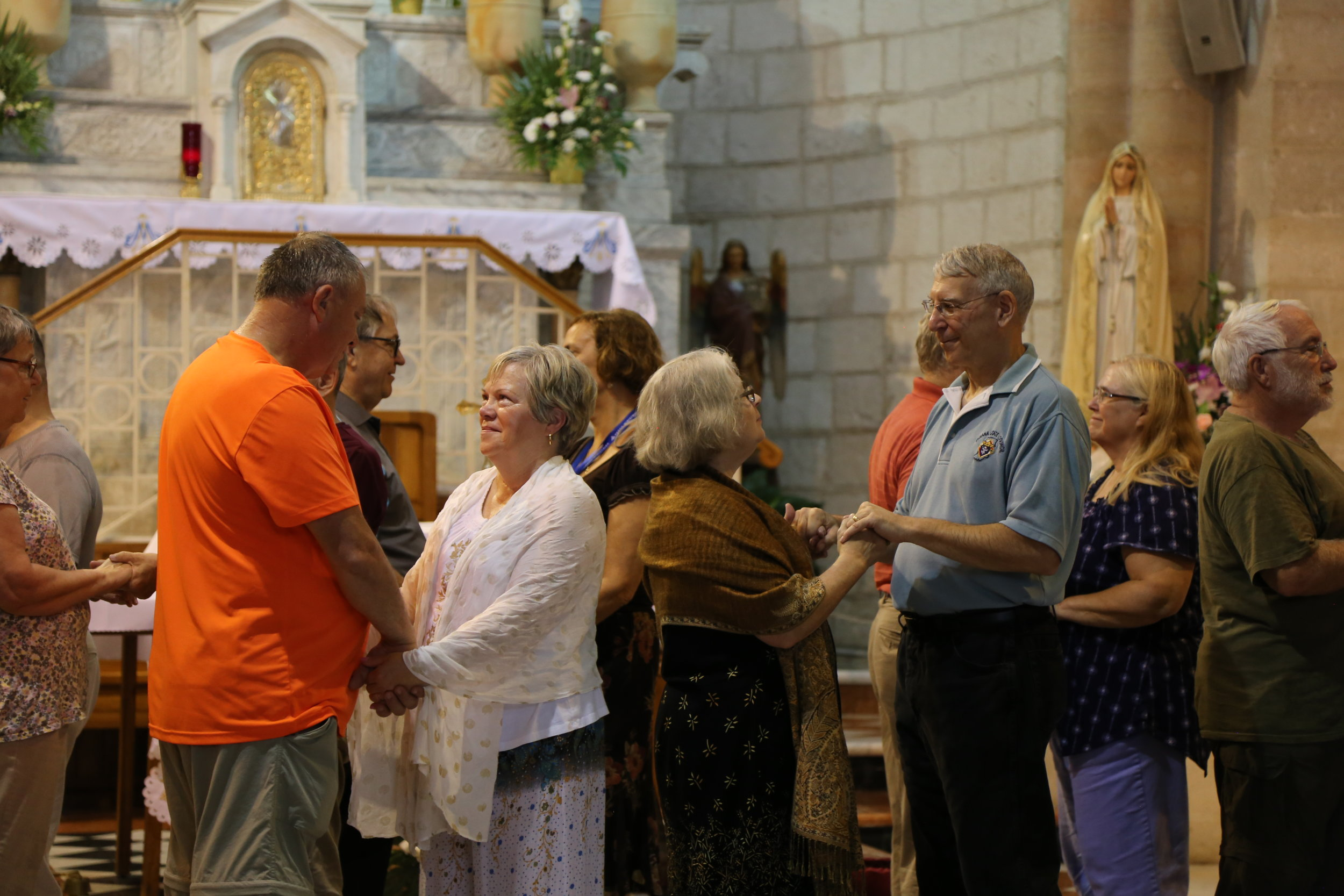 Renewing wedding vows at the Wedding Church in Cana.