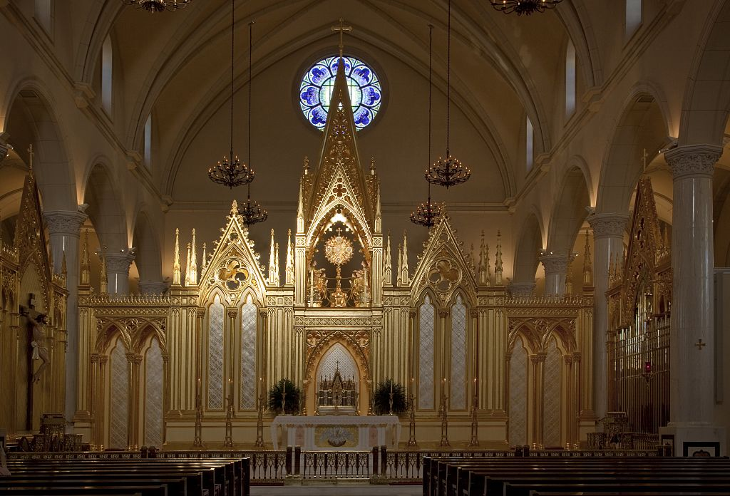 Main Chapel at The National Shrine of The Divine Mercy