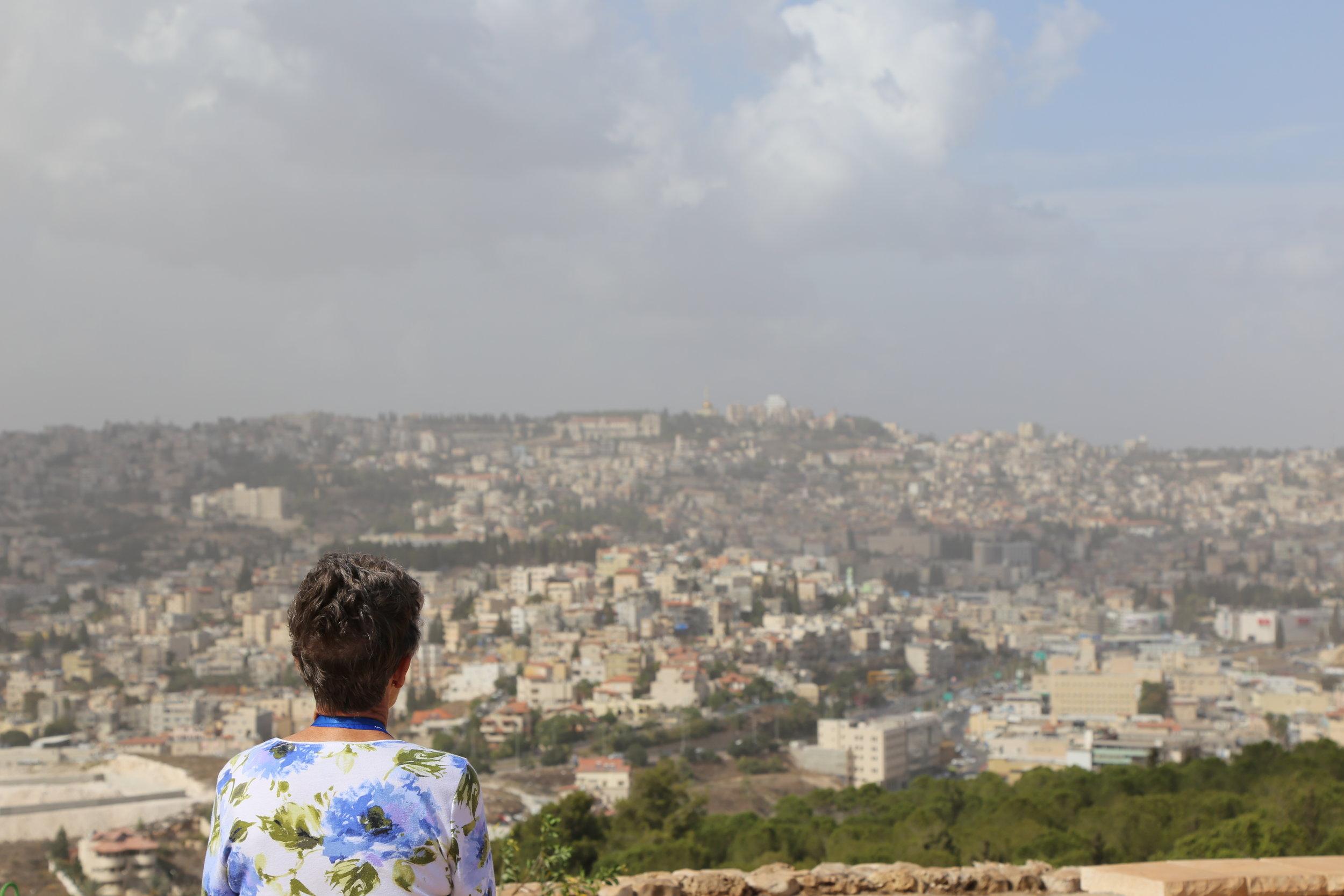 A pilgrim's view of Nazareth.