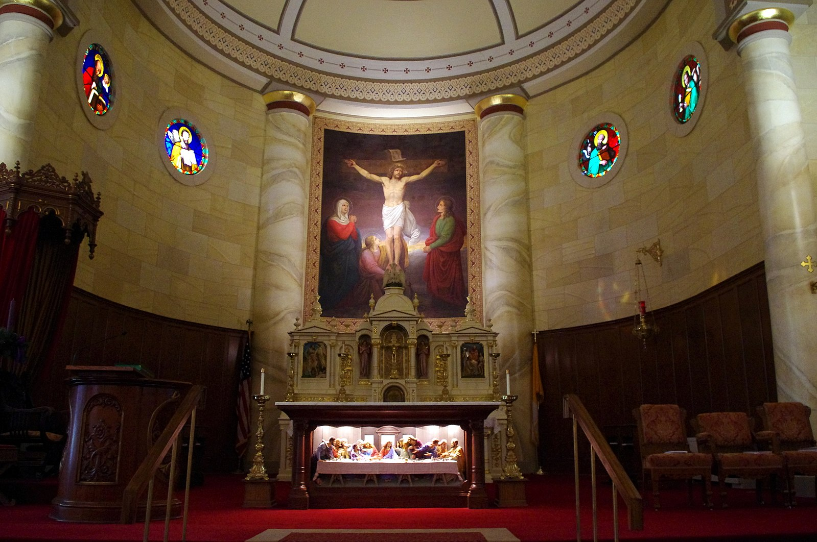 The Old Cathedral - The Old Cathedral in Vincennes is the first home of Catholicism in Indiana. As the seat for the Diocese of Vincennes, this home for Bishop Simon Brute was at the heart of the founding of both the Diocese of Fort Wayne and the University of Notre Dame.