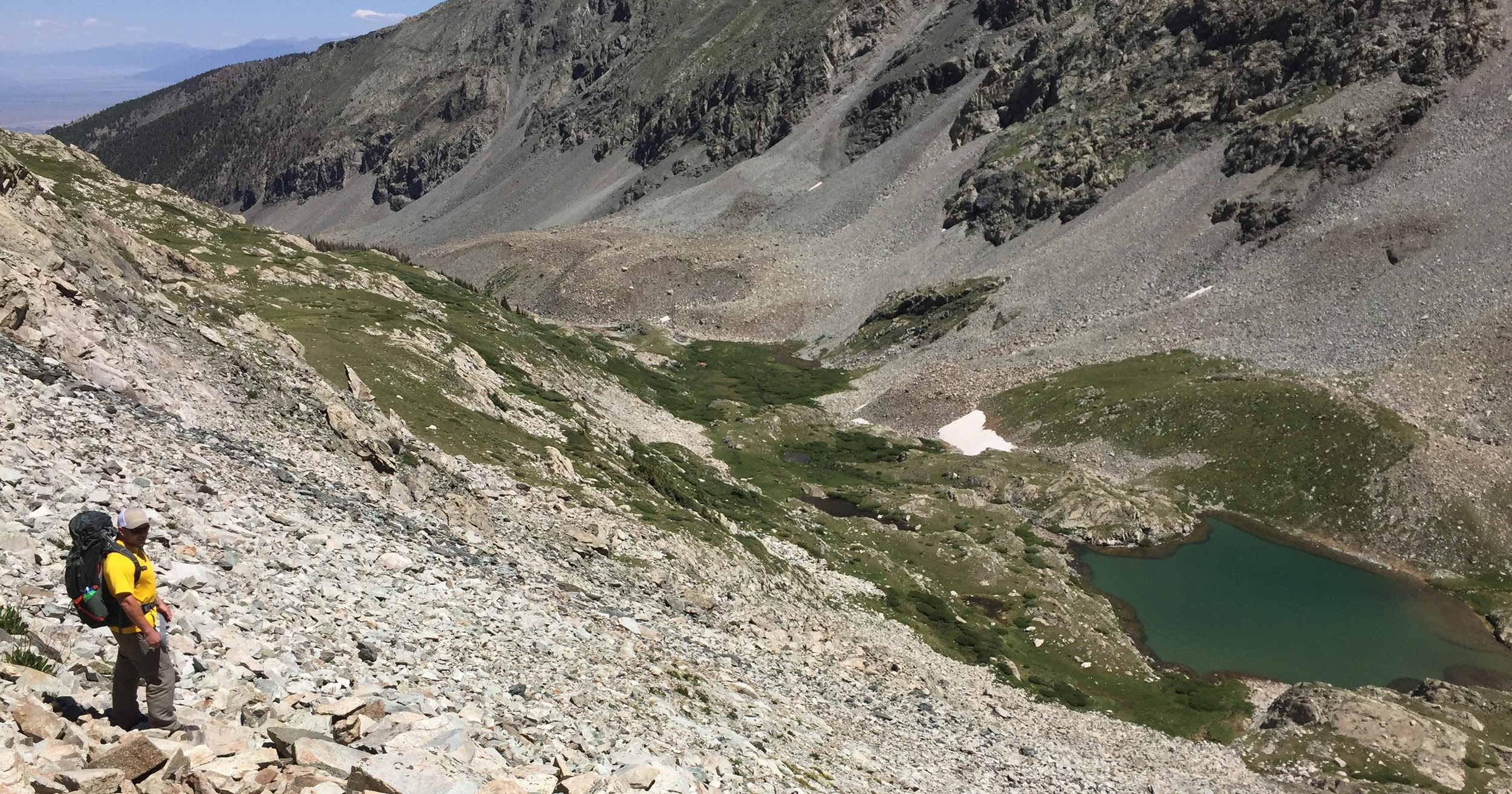 Wayne's hypoxia set in here, around 12,500 feet.
