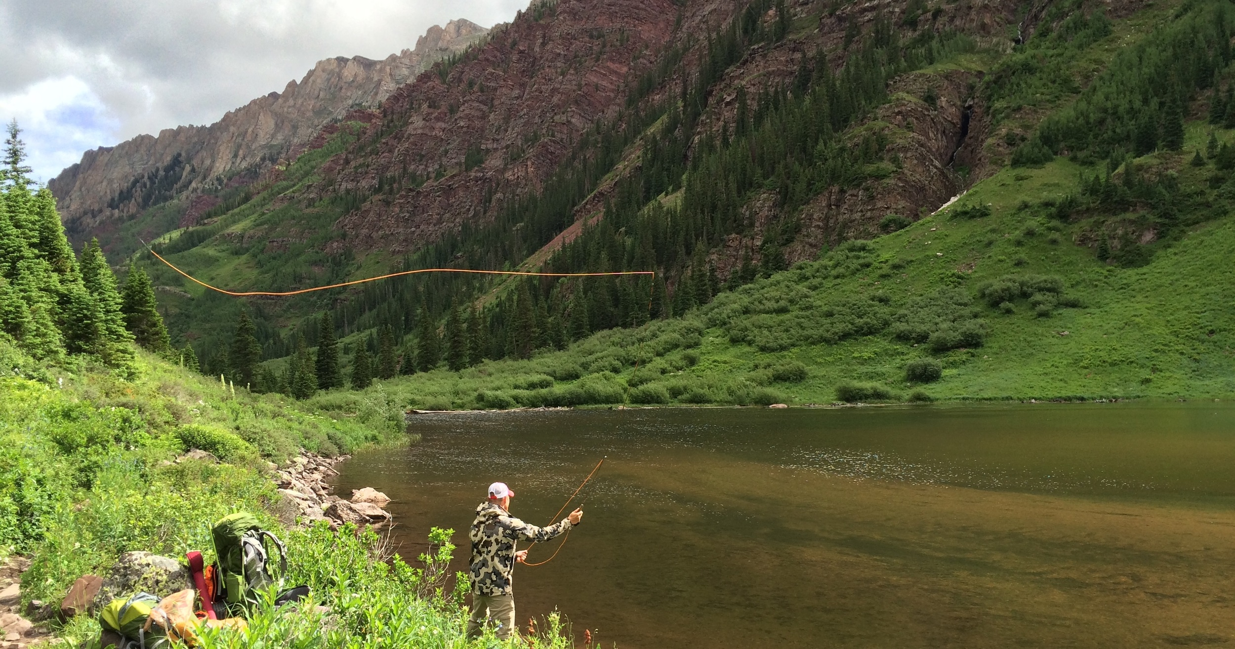 Dan, fly fishing the Maroon Bells - Snowmass Wilderness