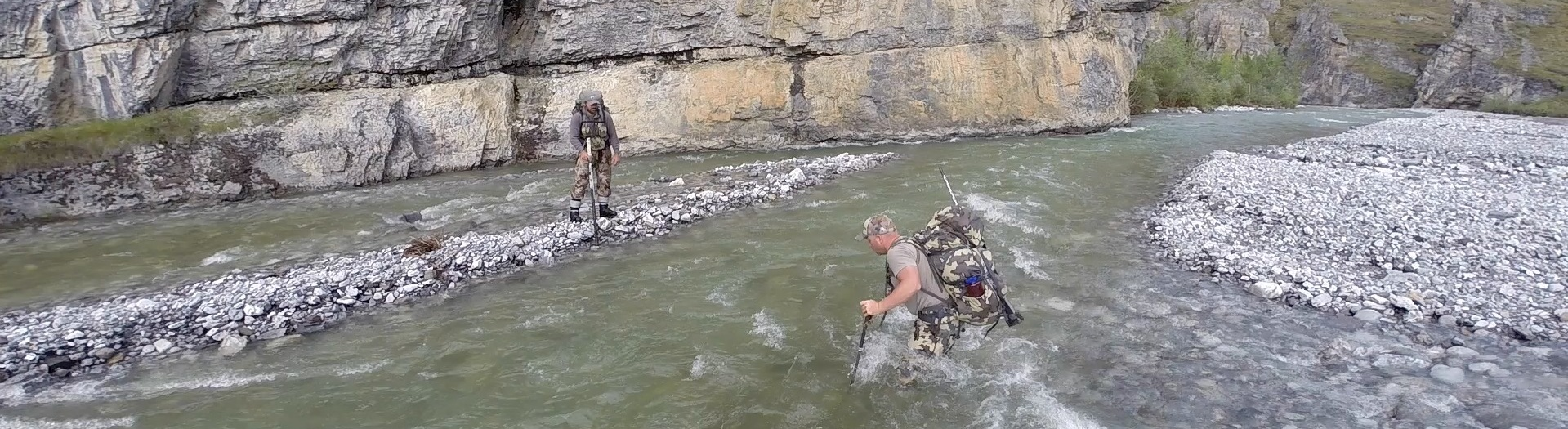 If your butt doesn't get wet, it's not too deep. A good set of gaiters are worth their weight in gold.