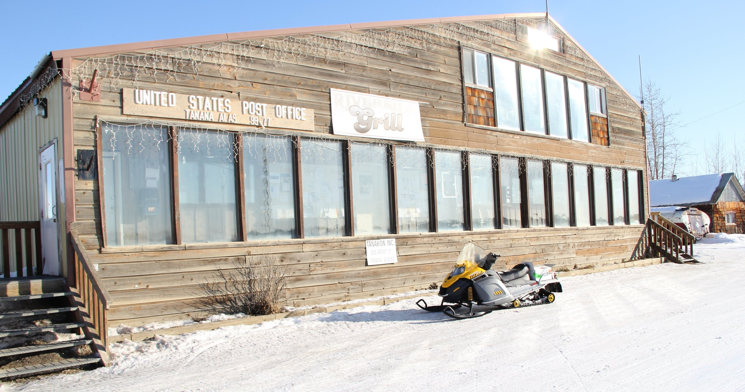 The multi-purpose building where we stayed in Tanana