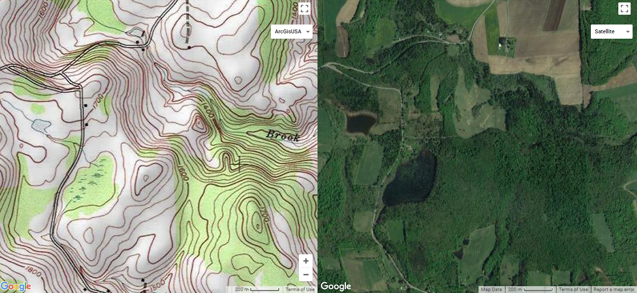 Hillmap.com's dual-screen view can be extremely helpful