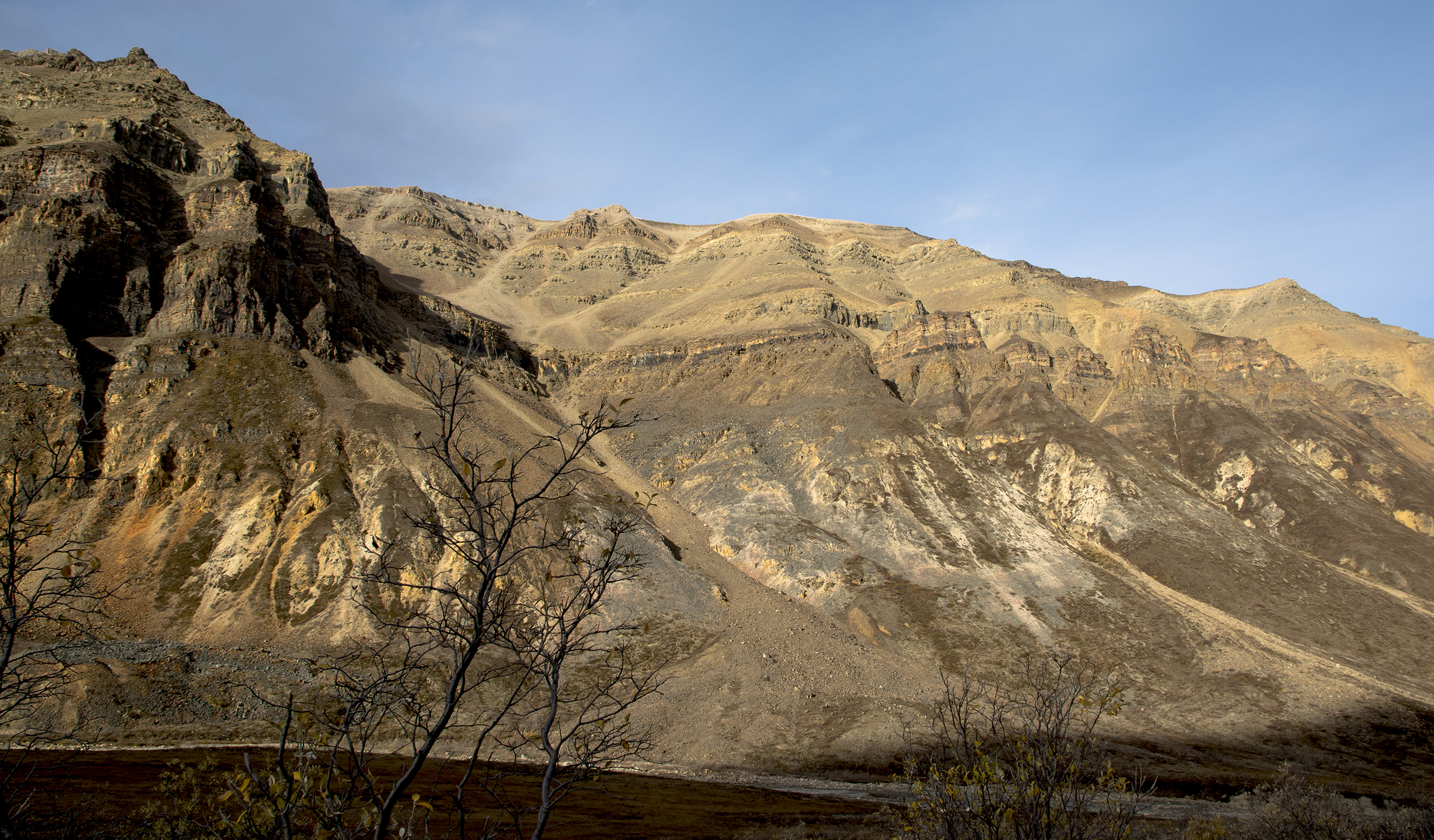 The ram's citadel. My ram is feeding above the center band of cliffs. Can you see him? Tav did.