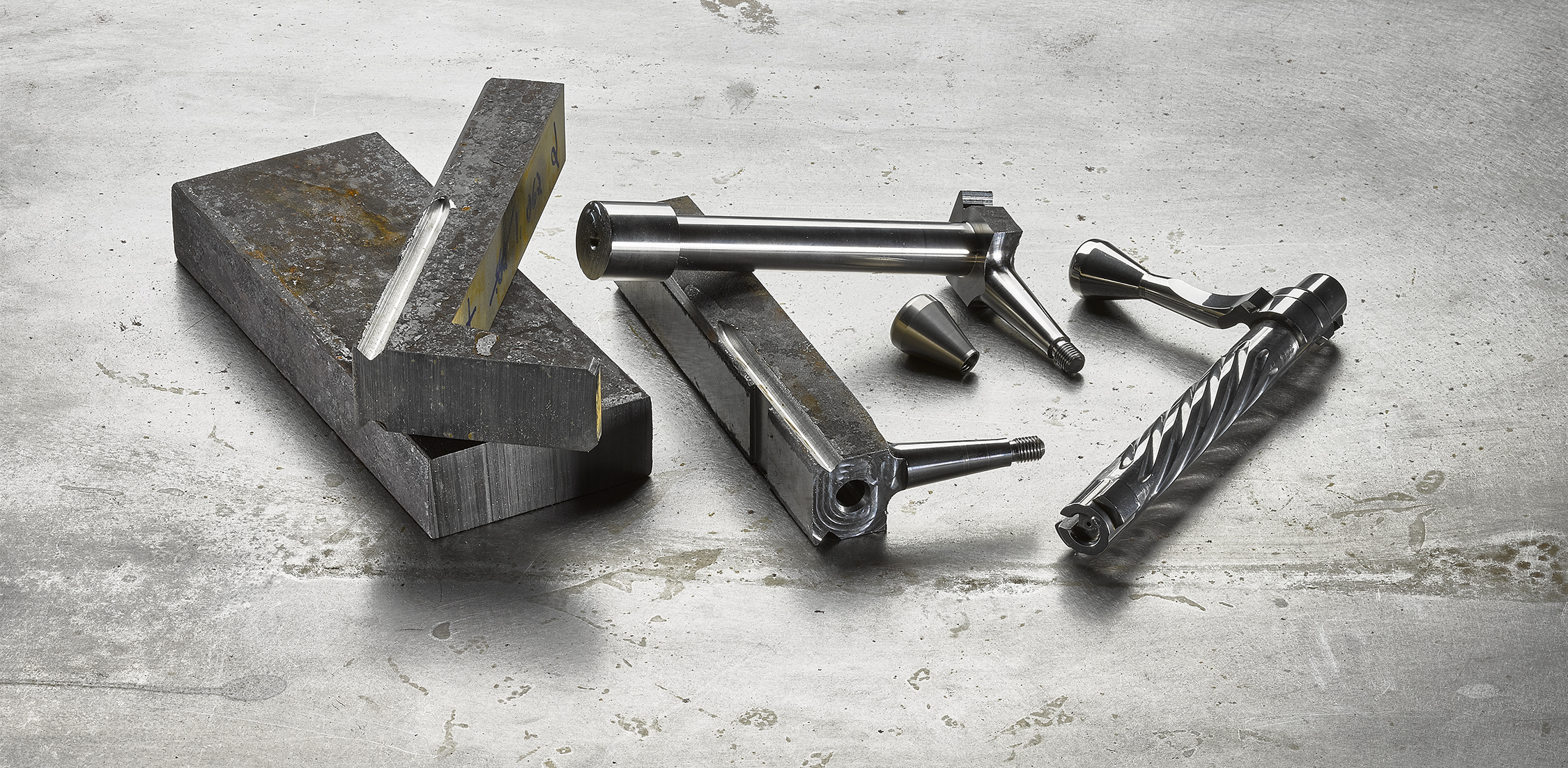 Bolts are also machined from solid steel