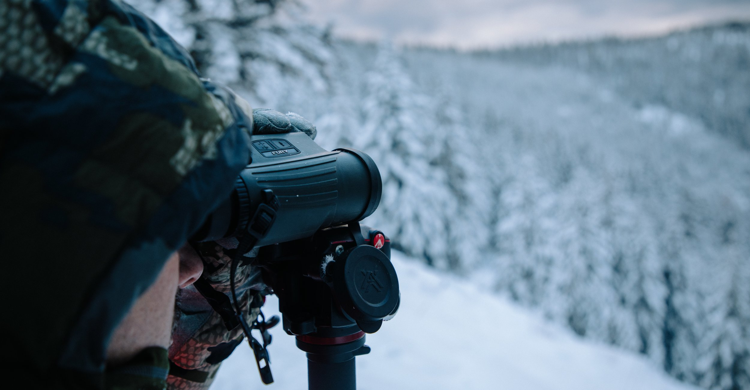 A client borrows my Fury HD while elk hunting in Montana
