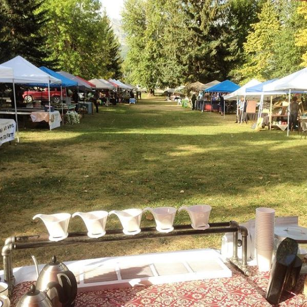 Our Farmer's Market setup - Summer 2016