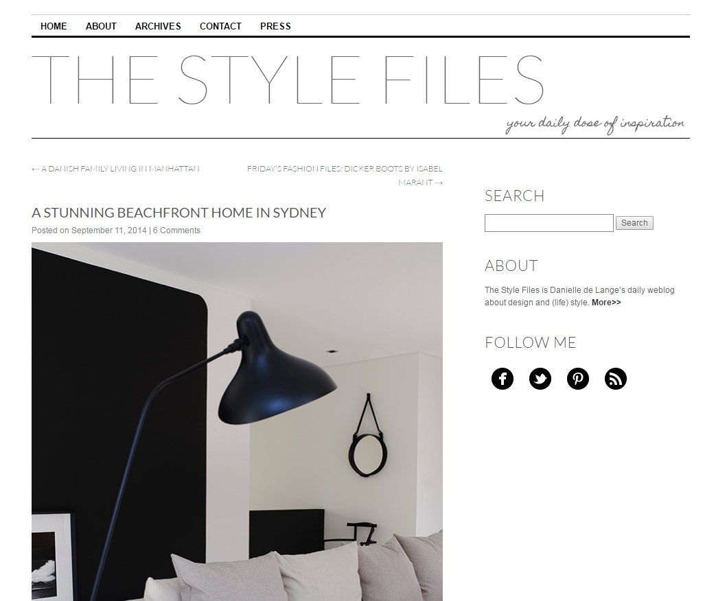 SEP 2014  | THE STYLE FILES - CRONULLA RESIDENCE
