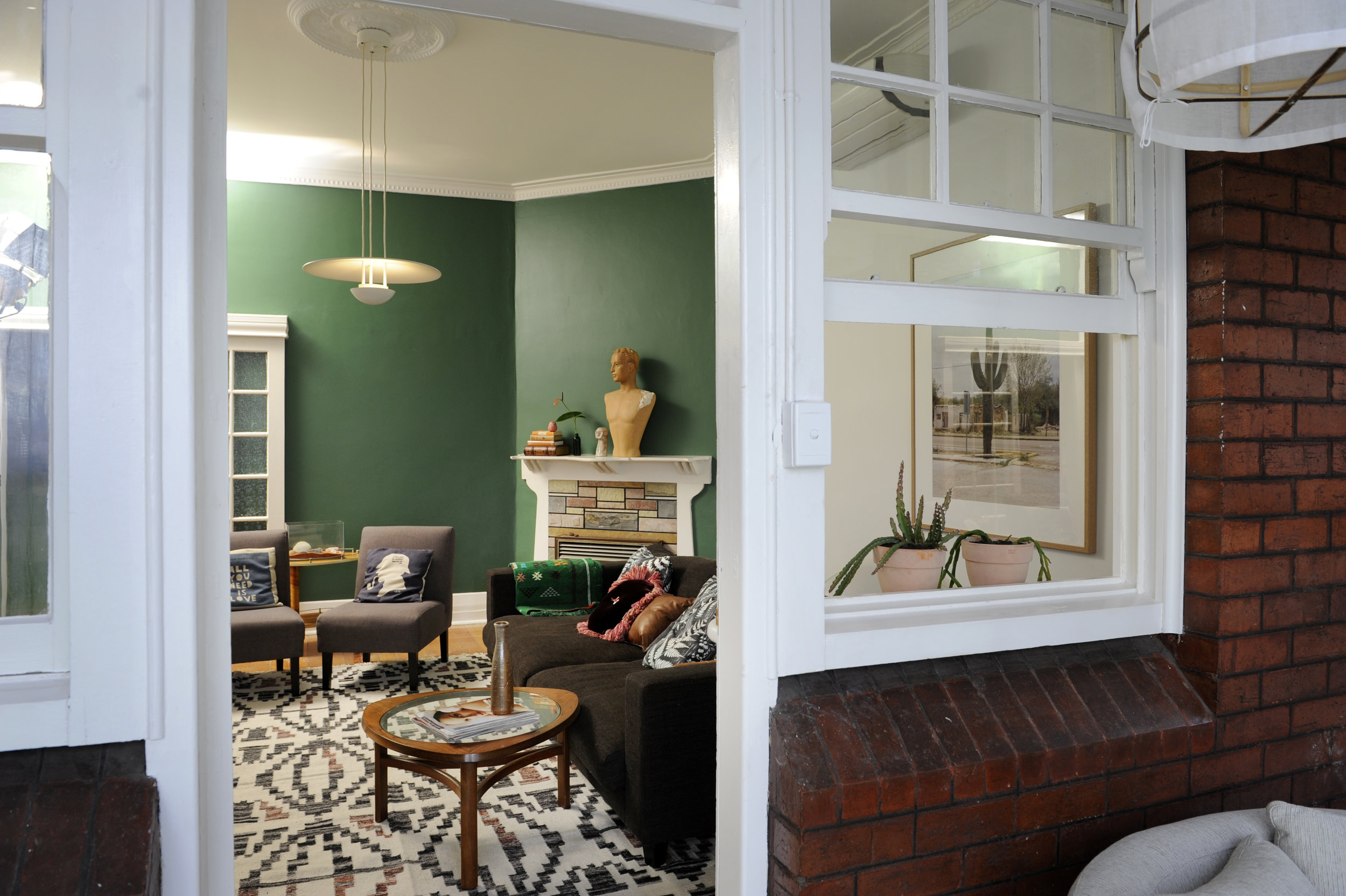 COMPLETED LIVING ROOM, VIEW FROM SUNROOM | Images by Vanessa Hall