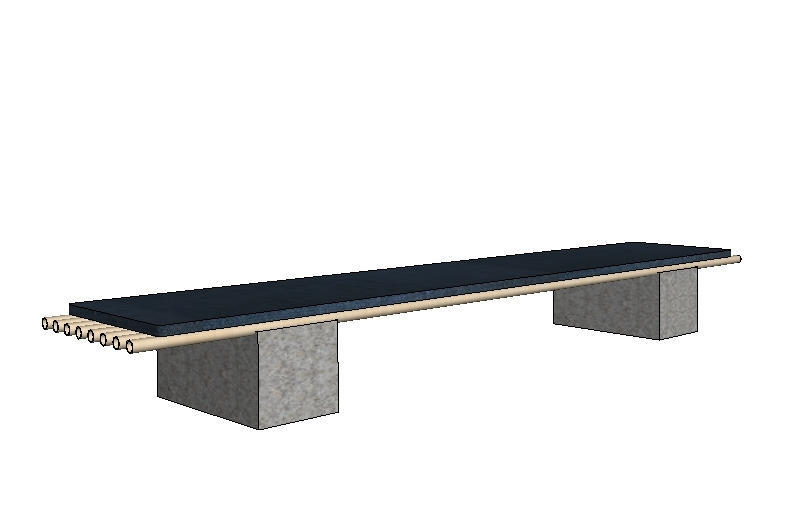 Conceptual rendering of the bench, prior to fabrication
