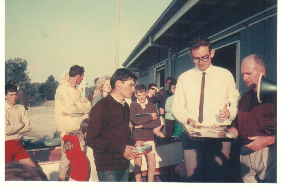 Mike Ahern MLA presents Trophies, 1968