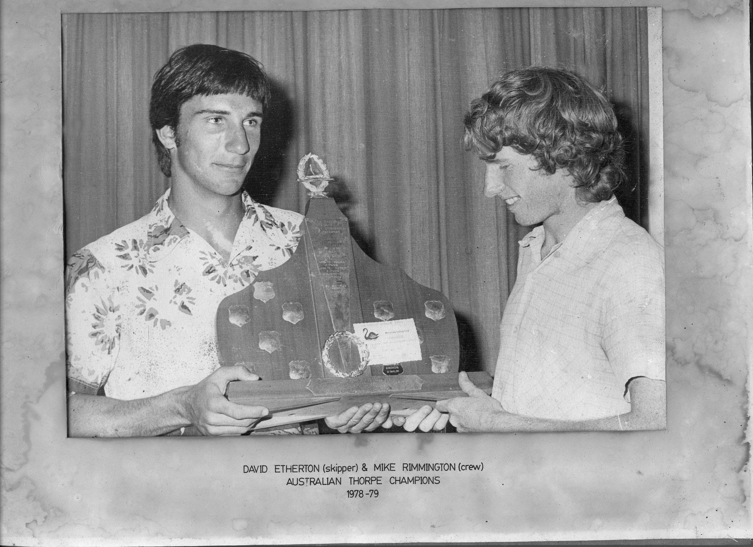 David Etherton & Mike Remminington, Australian Thorpe Champions, 1978
