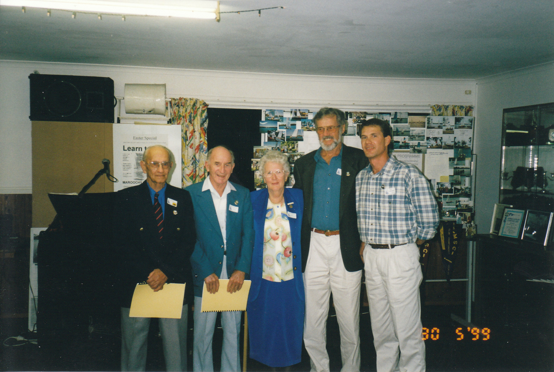 LifE Members 1999 : Charles Smith, Noel Etherton, Shirley McDonald, Fred Downes, Keith Campbell