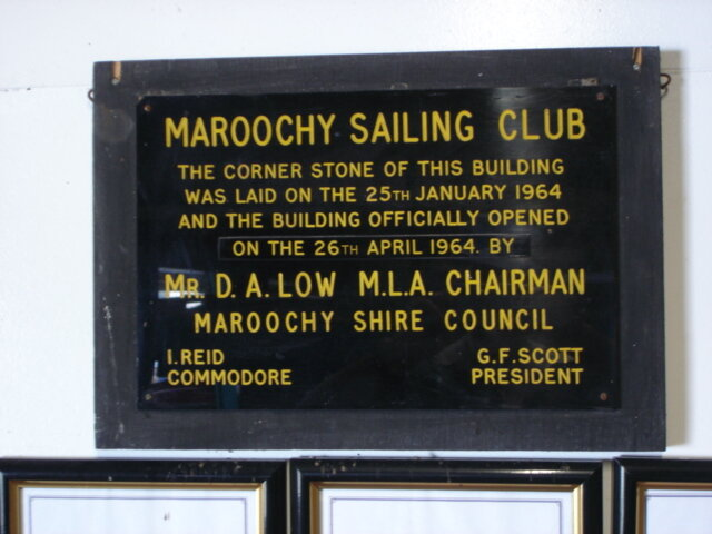 1963 - 64  Plaque commemorating the building of the original clubrooms on Chambers Island.jpg