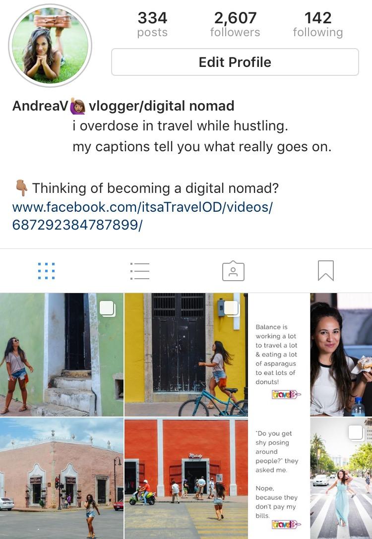 Screenshot of my Instagram grid.