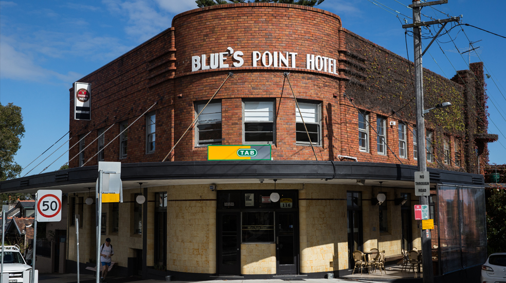 BLue's Point Hotel in McMahons point - our clubhouse