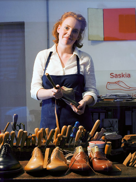 Saskia Wittmer from Berlin creates the finest made-to-measure footwear in her Florence atelier.