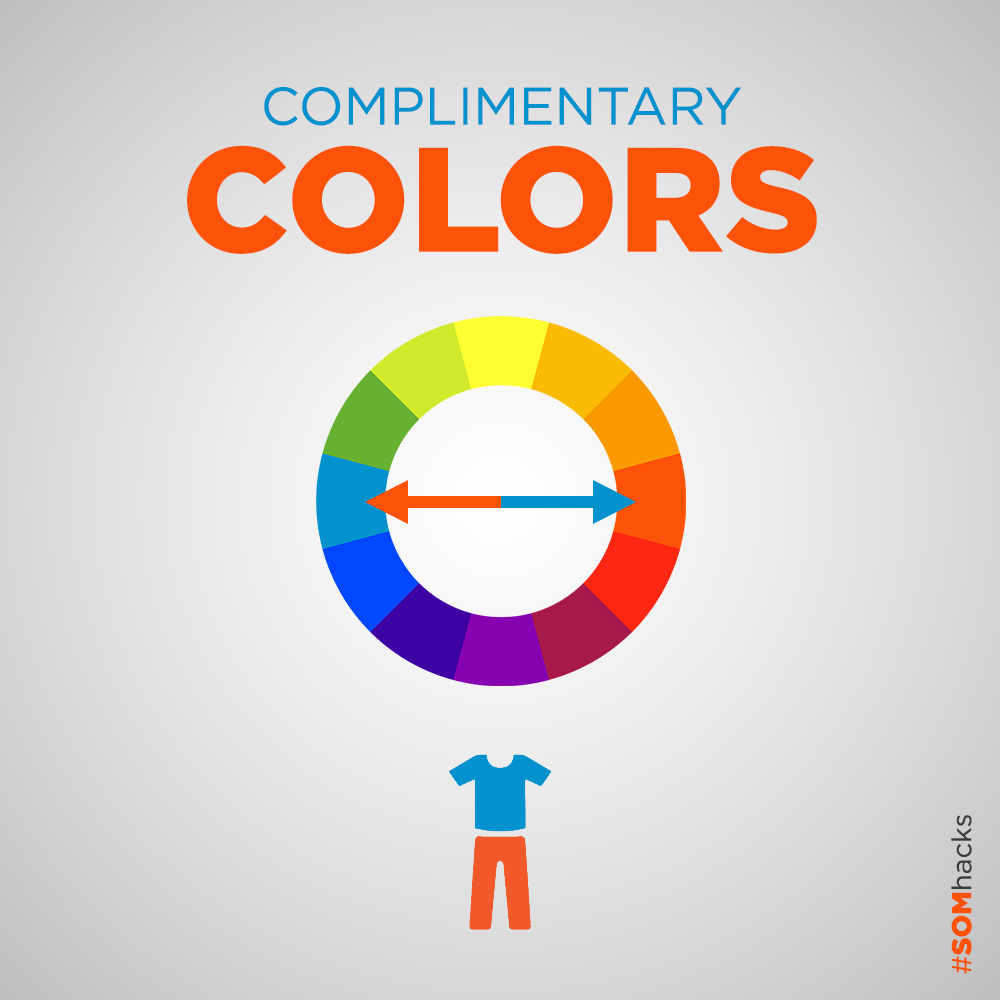 Opposite sides of the color wheel compliment each other beautifully and harmoniously. #SOMhacks