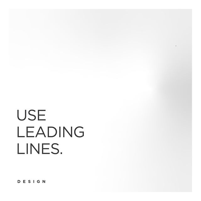 Leading lines are the lines our eyes follow when we're looking at a photo, design, or video. They're often used to draw our eyes to the point of emphasis. In fact, you can even use text as a leading line.  #standoutmarketing #standout #entrepreneur #photooftheday #motivation #graphics #logodesign #logos #logo #design #socialmedia #startup #contentmarketing #advertising #digitalmarketing #bakersfield #bakersfielddesigner #art #artistsoninstagram #typography