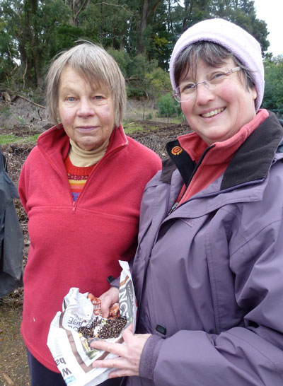 Noel & Julie with 3000 Acacia seeds