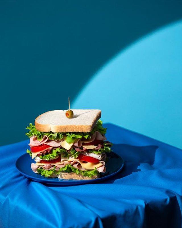 Sandwich in the spotlight 🥪💡🥪 . Food styling @saskia.sidey Photography @andreainsworth  Set design @laurenlalaw . . . #foodstyling #foodphotography #conceptualfood #foodart #thegourmand #thisismold #spotlight #sandwich #sandwichesofinstagram