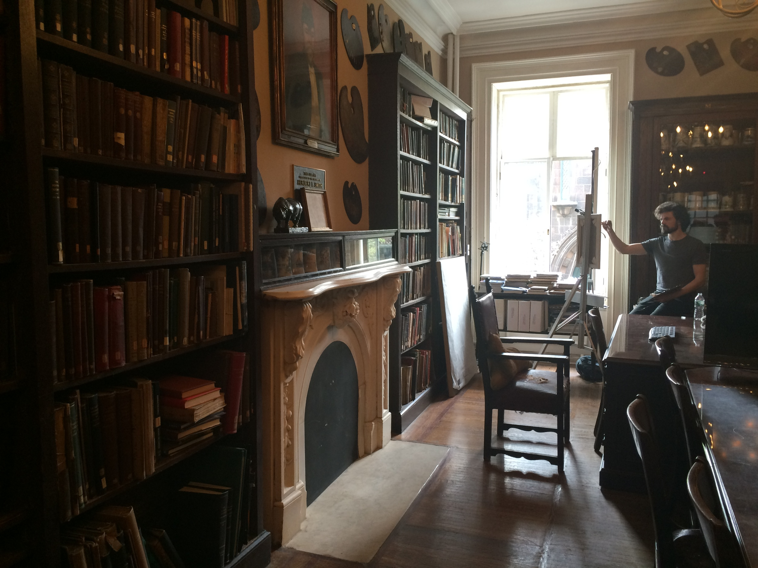 Sketch Class in The Library, at The Salmagundi Club of New York, 2015