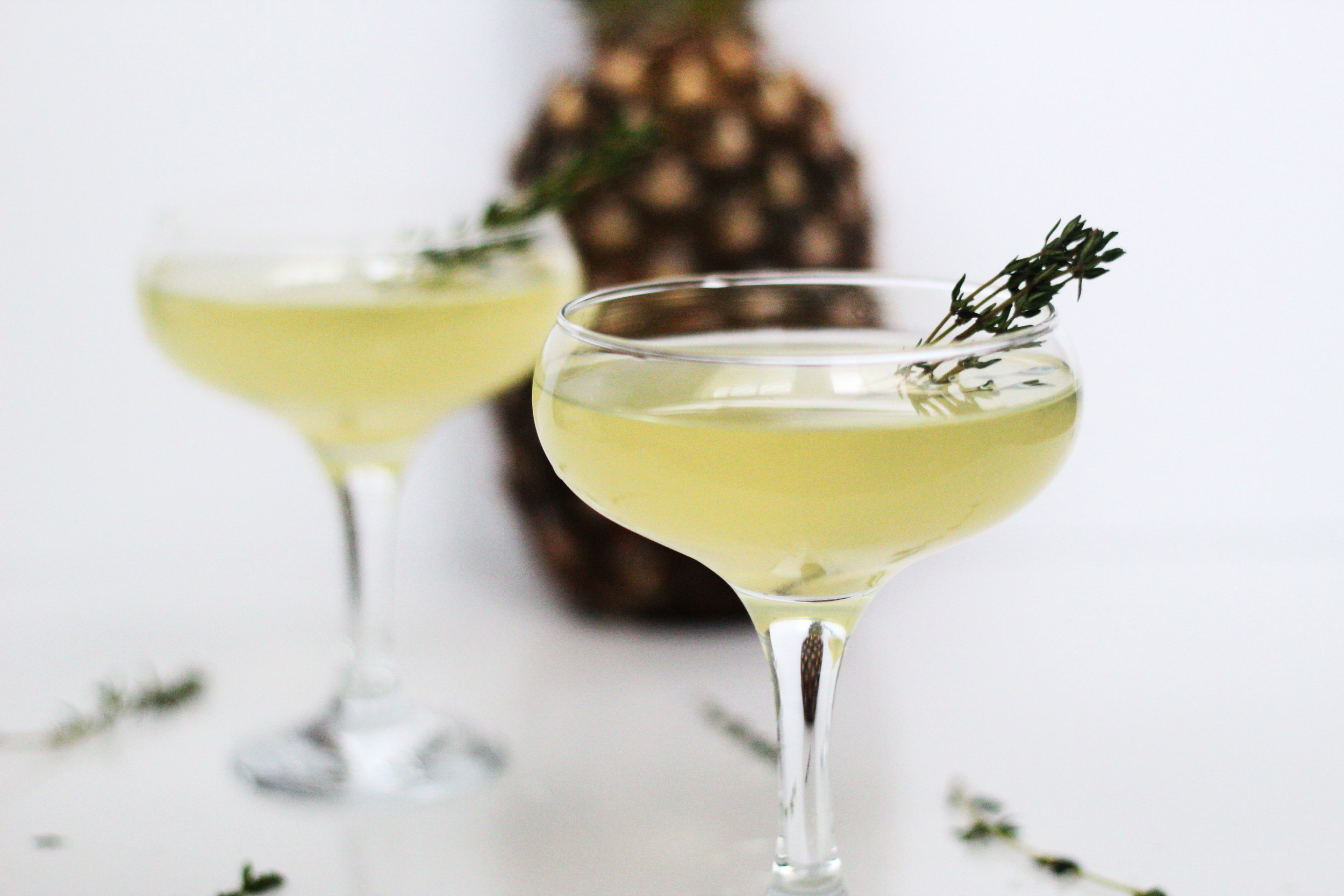 pineapple french 75's