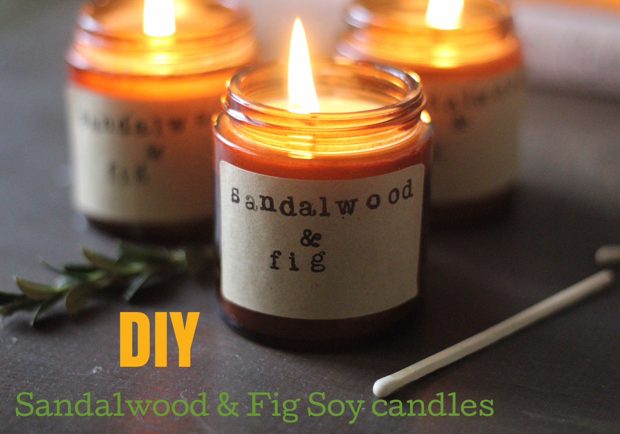 DIY easy soy candles that smell like christmas