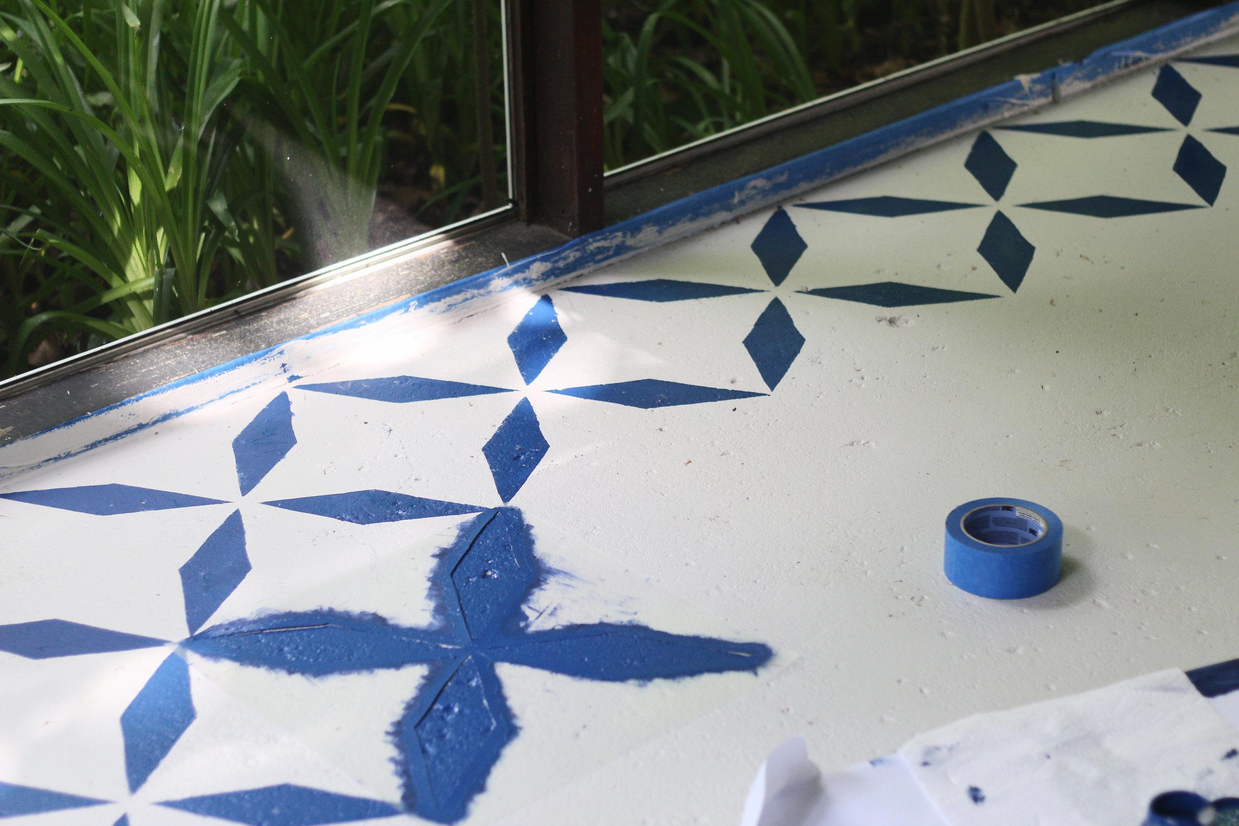balladofbright-DIY floor stencil-5