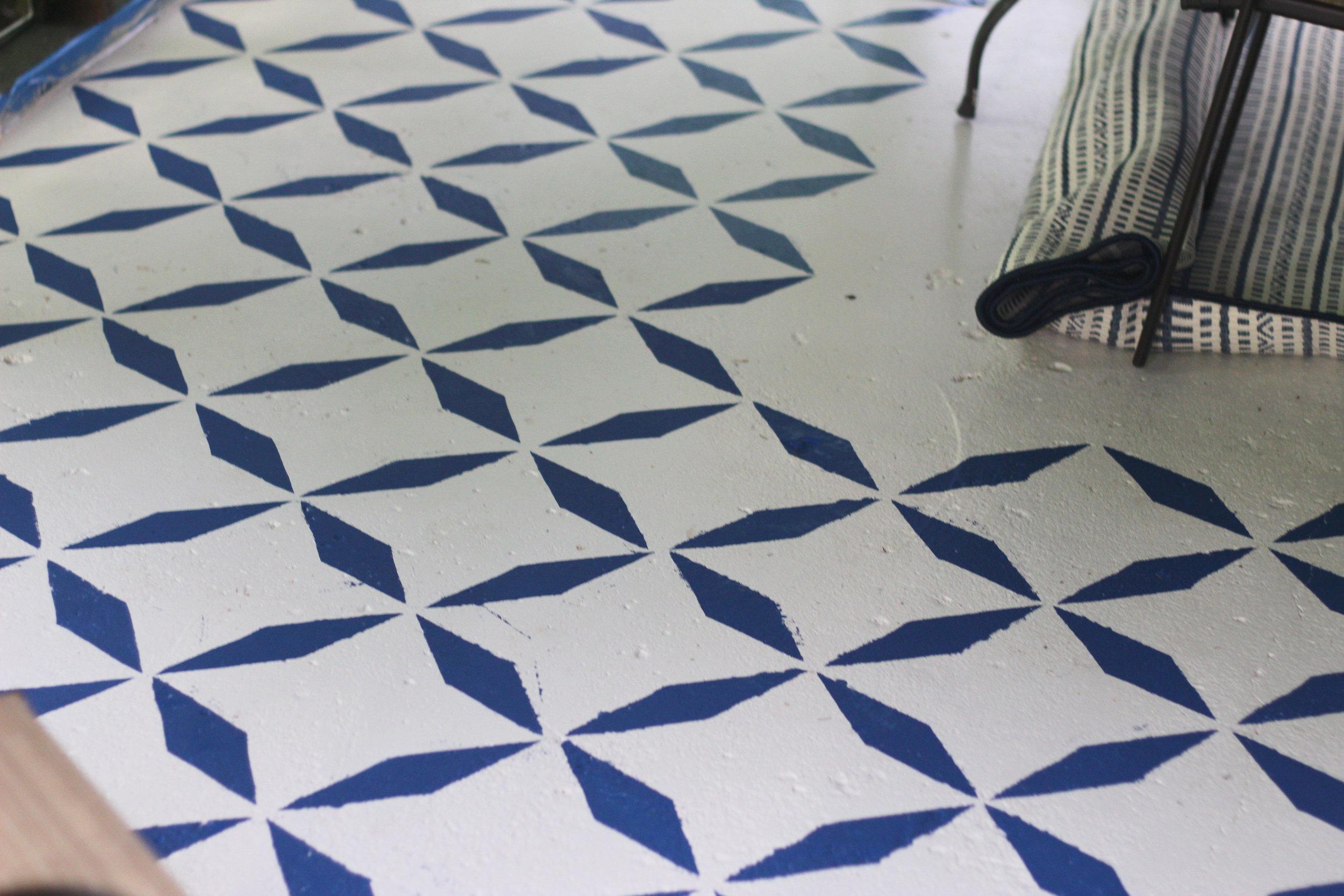 balladofbright-DIY floor stencil-6
