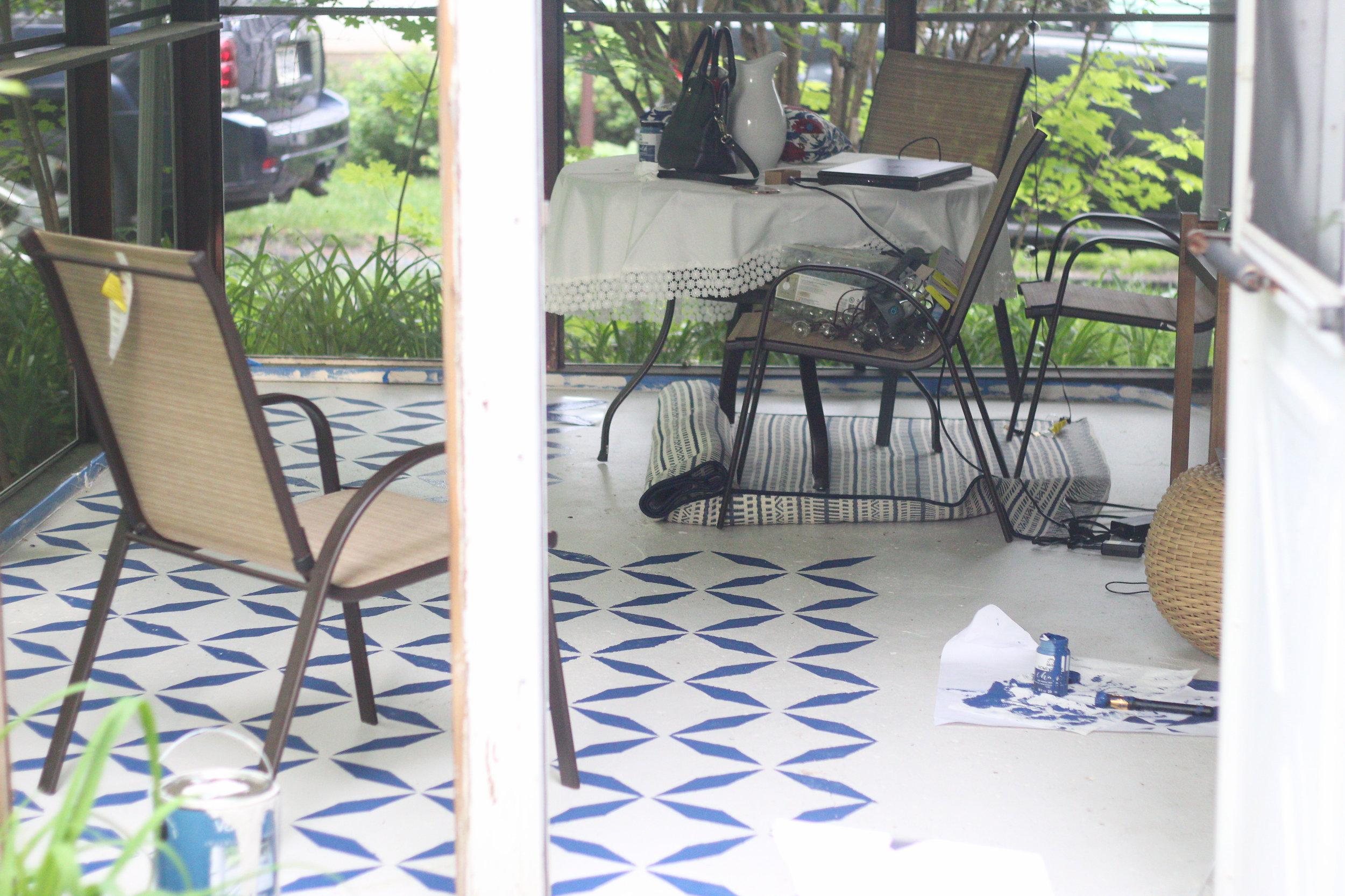 balladofbright-DIY floor stencil-7