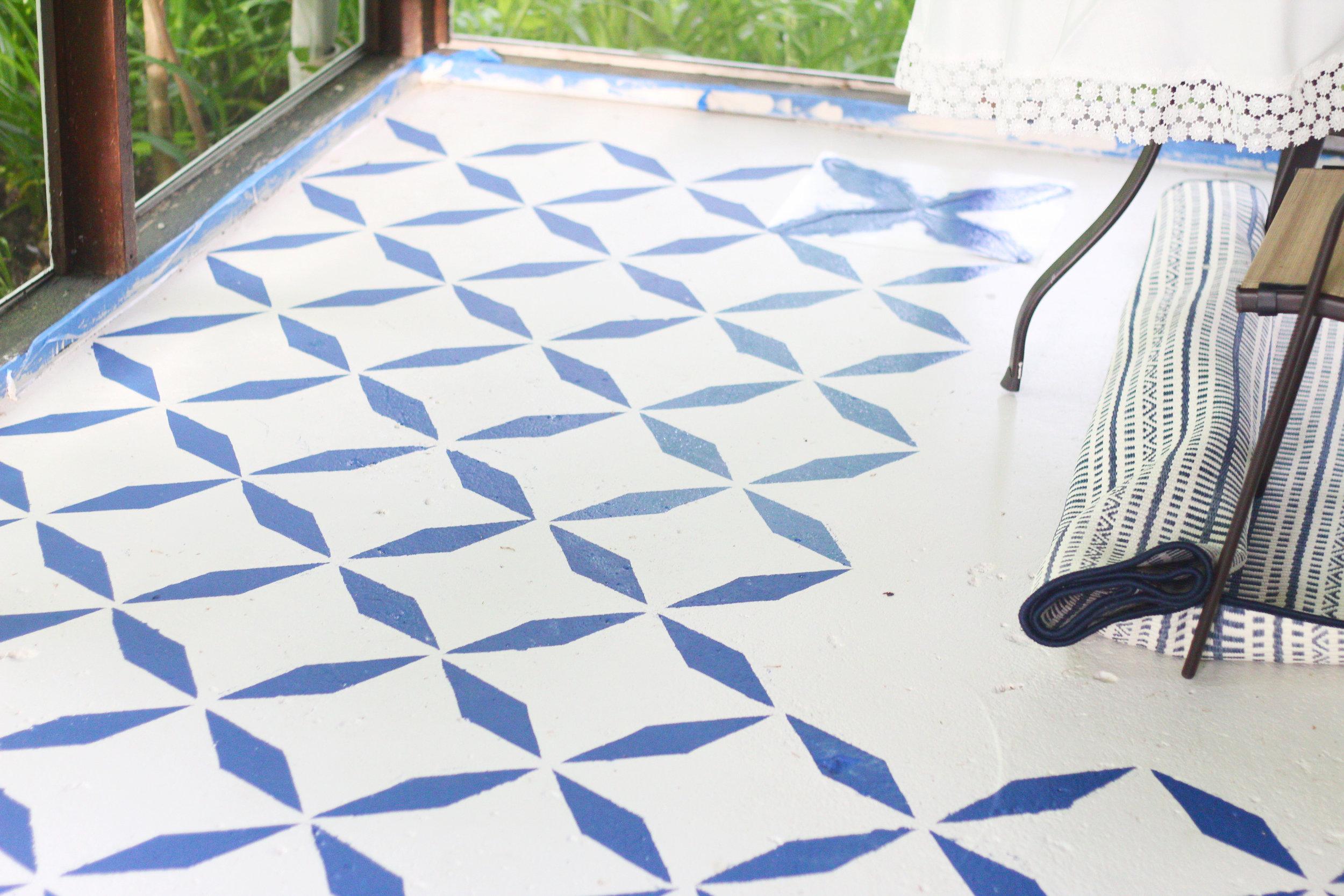 balladofbright-DIY floor stencil-8